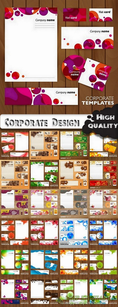 Stationery Corporate Design elements in vector from stock - 25 Eps