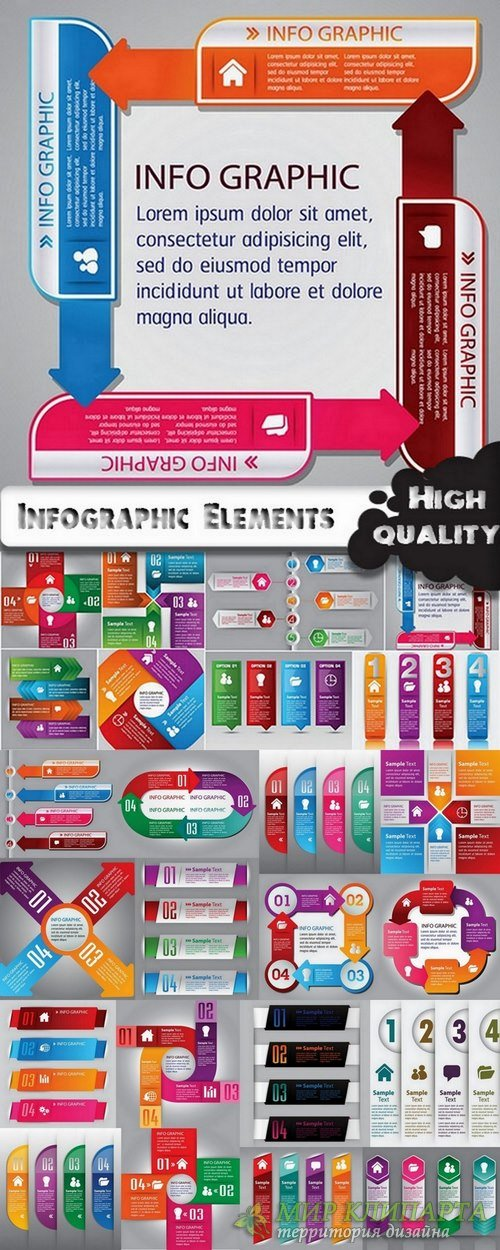 Infographic Design Elements in vector set from stock #65 - 24 Eps
