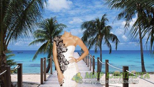 Шаблон для Photoshop - Отдых на Гавайях