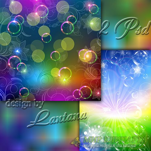 PSD исходники - Цветочный фейерверк