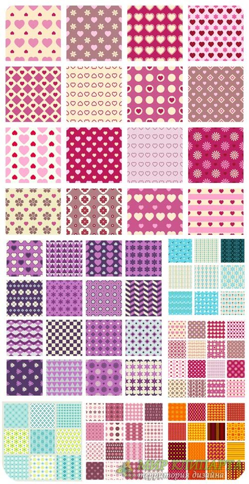 Цветные текстуры в векторе, фоны с узорами / Colored texture, vector backgr ...