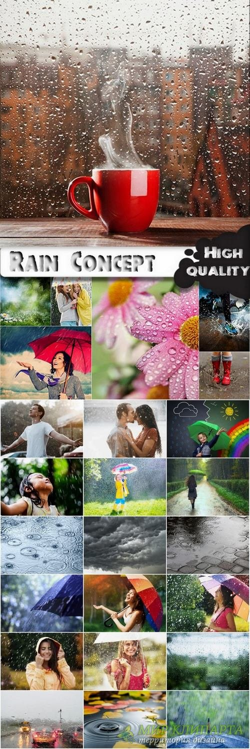 Rain and people with umbrella stock images - 25 HQ Jpg