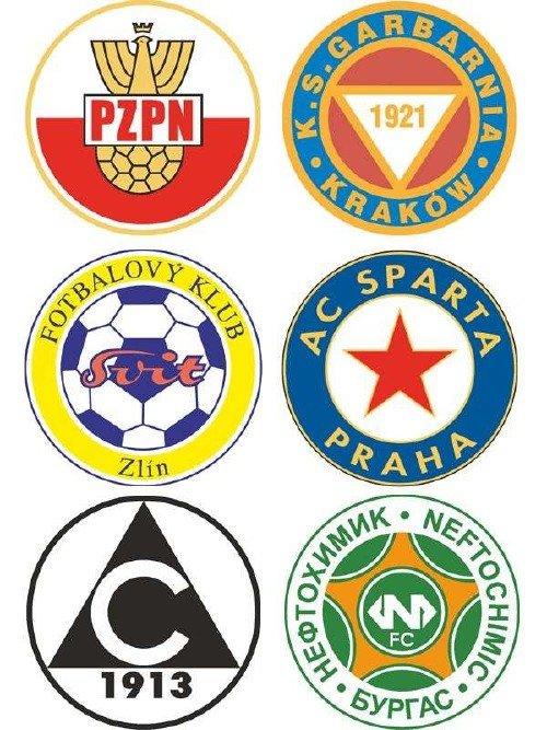 Логотипы футбольных команд: Болгария, Чехия, Польша (вектор)