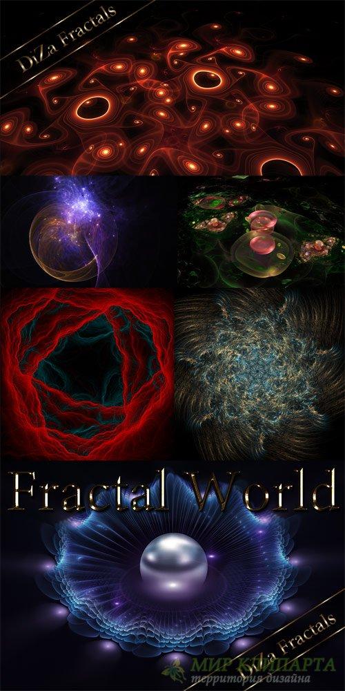 Фрактальный мир - растровый клипарт