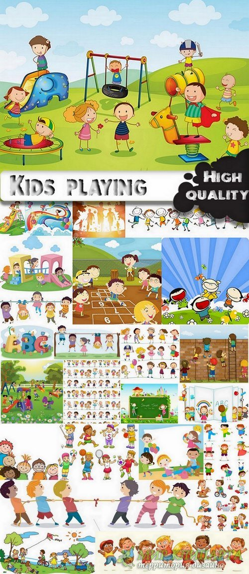 Toons kids playing - 25 Eps