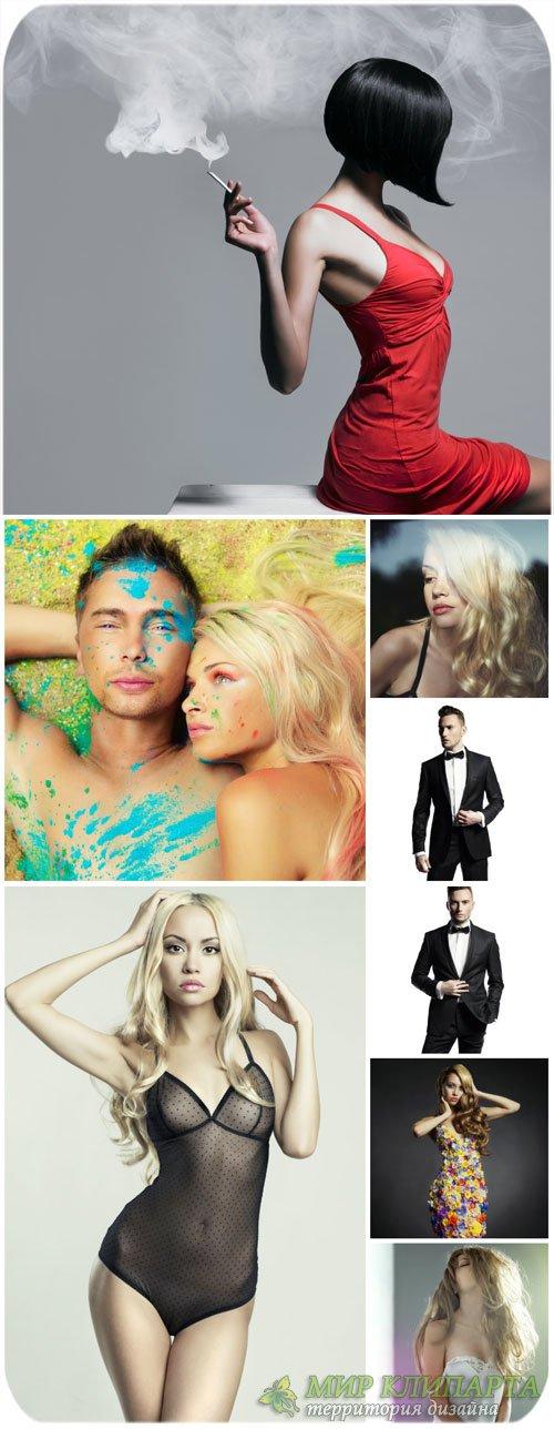 Гламурные люди, модные девушки и мужчины / Glamorous people - Stock photos