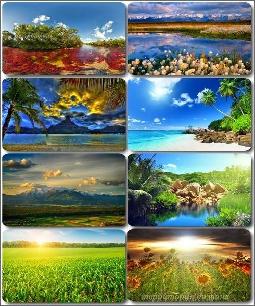 Живописные пейзажи - Обои с фото природы (альбом 25)