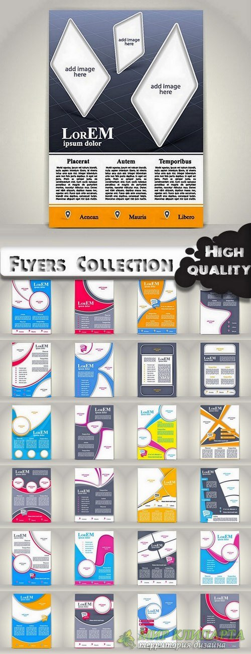 Flyers Template design Collection in vector from stock #25 - 25 Eps