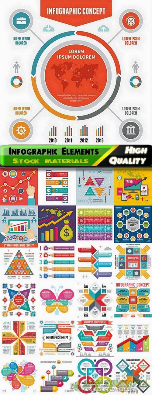 Infographic Design Elements in vector set from stock #67 - 25 Eps