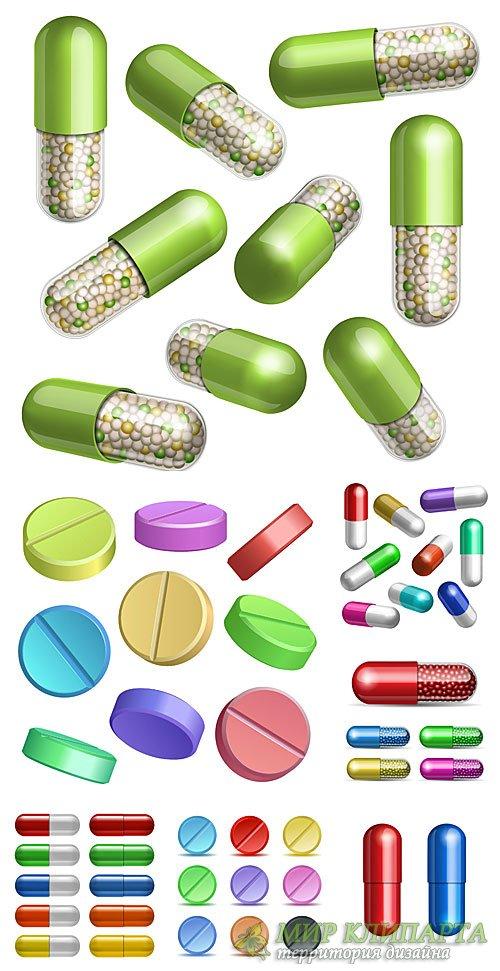 Медицина в векторе, таблетки и капсулы / Medical vector, tablets and capsul ...