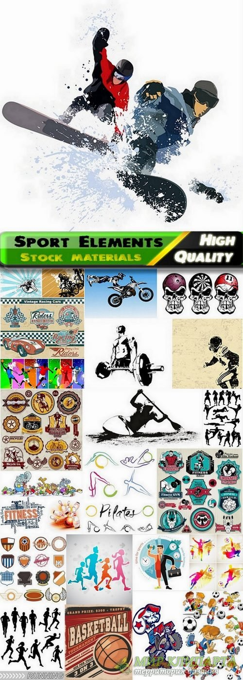 Sport Elements in vector from stock - 25 Eps