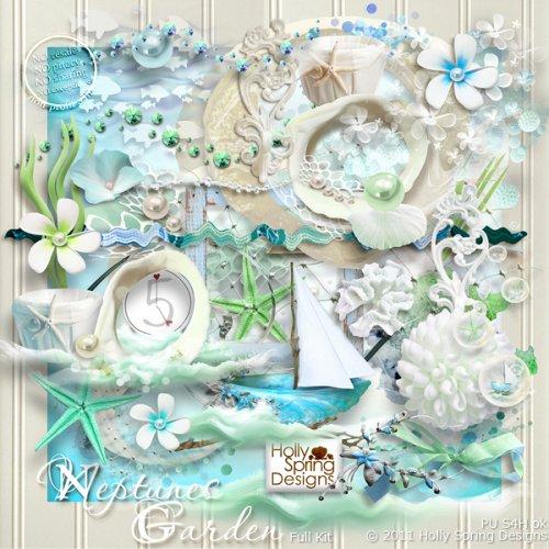 Скрап-набор Neptunes Garden