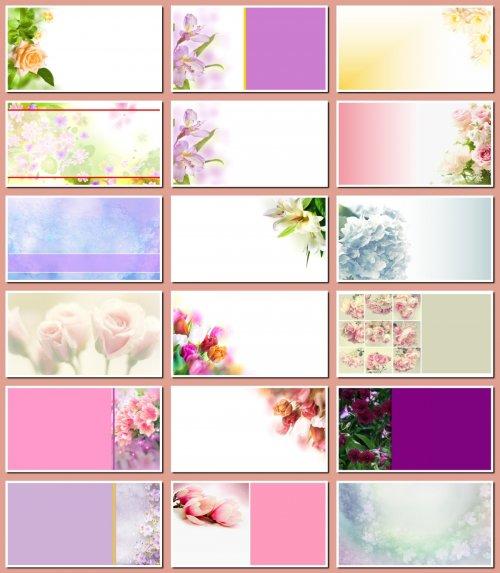 Фоны для визиток и дизайна цветочные. 21 JPEG