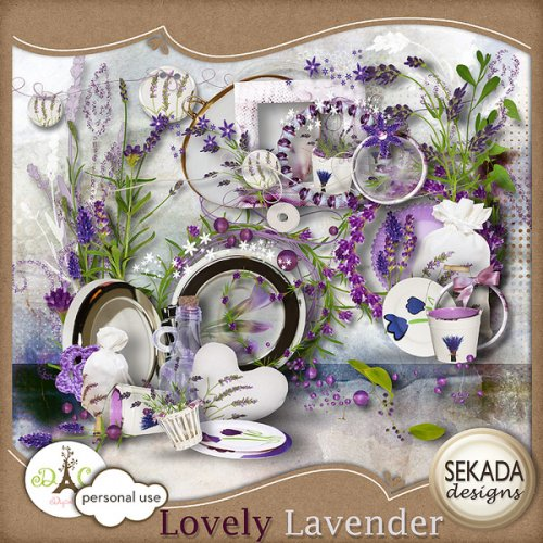 Скрап-набор Lovely lavender