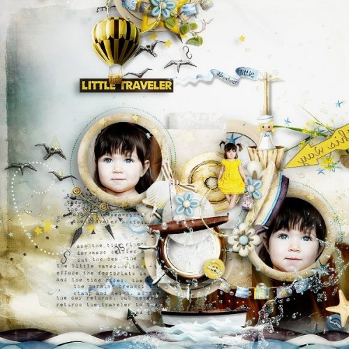 Скрап-набор Little traveler