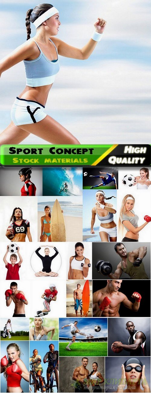 Set of sports beautiful people stock images - 25 HQ Jpg