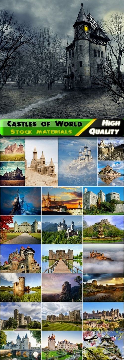 Castles of World Stock Images - 25 HQ Jpg