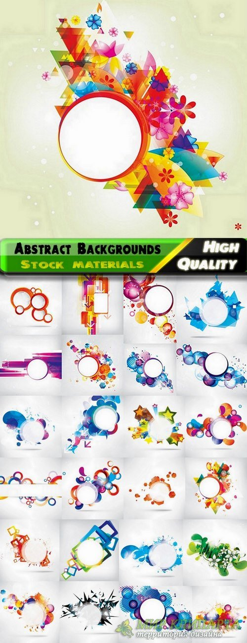 Abstract Colorful backgrounds in vector from stock - 25 Eps