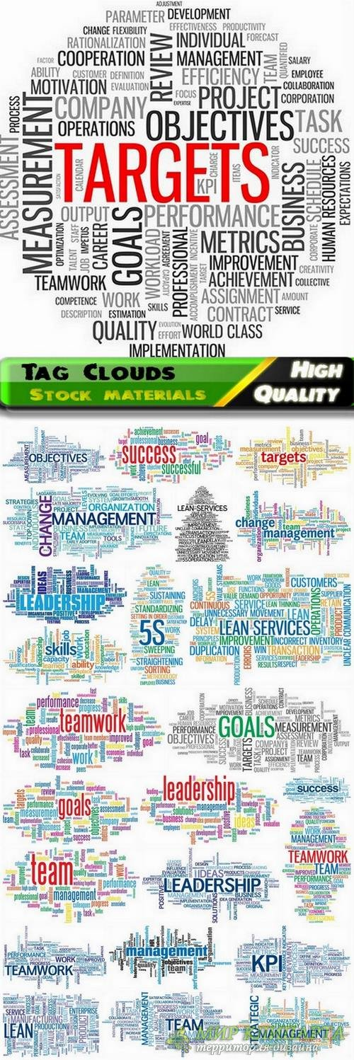 Tag Clouds Business Concept - 25 Svg