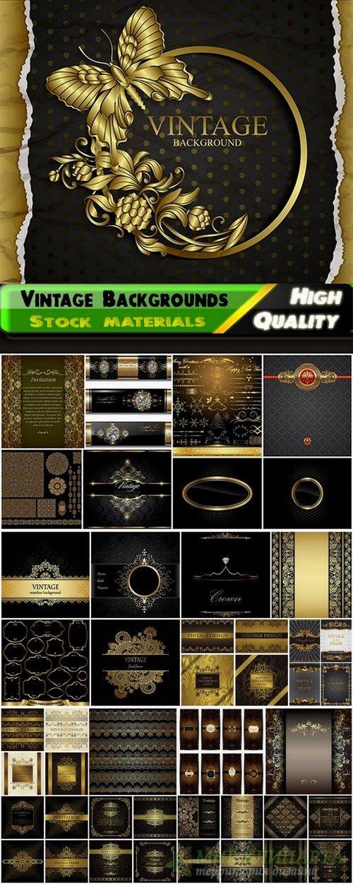 Vintage design elements for page decoration - 25 Eps