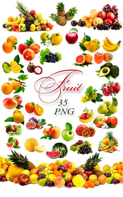 Фрукты - Клипарт на прозрачном фоне / Fruit