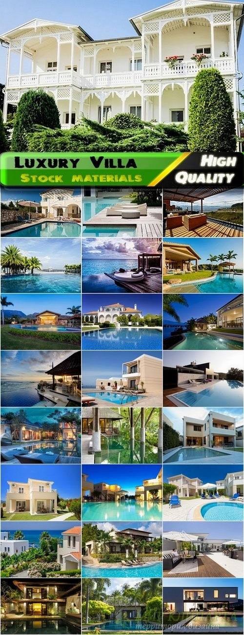 Luxury Villa exterior Stock images - 25 HQ Jpg