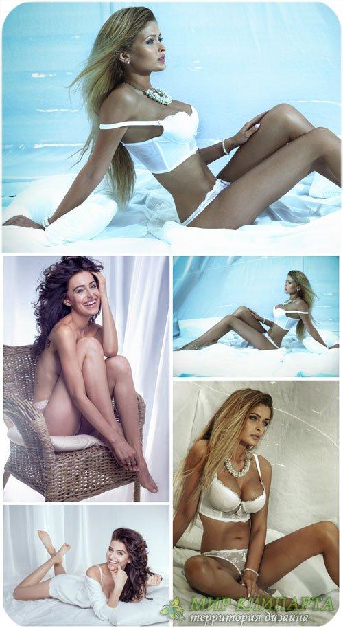 Девушки, красивое женское белье / Girl, beautiful lingerie - Stock Photo
