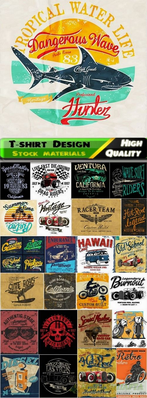 T-shirt Design elements in vector from stock #28 - 25 Eps