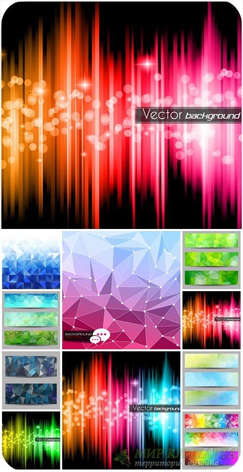 Абстрактные векторные фоны, баннеры / Abstract vector backgrounds, banners