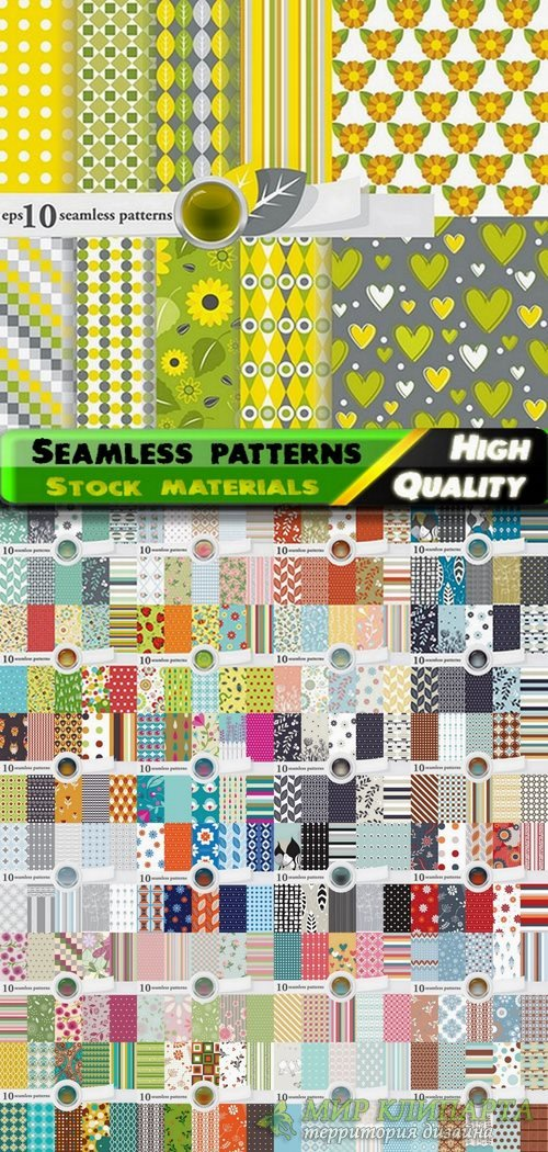 Abstract  Seamless patterns in vector set from stock #11 - 25 Eps