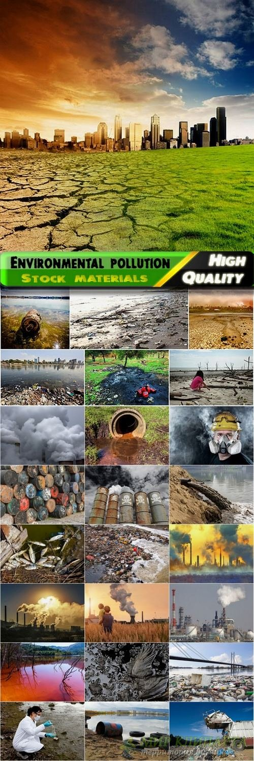 Environmental pollution Stock Images in vector - 25 HQ Jpg
