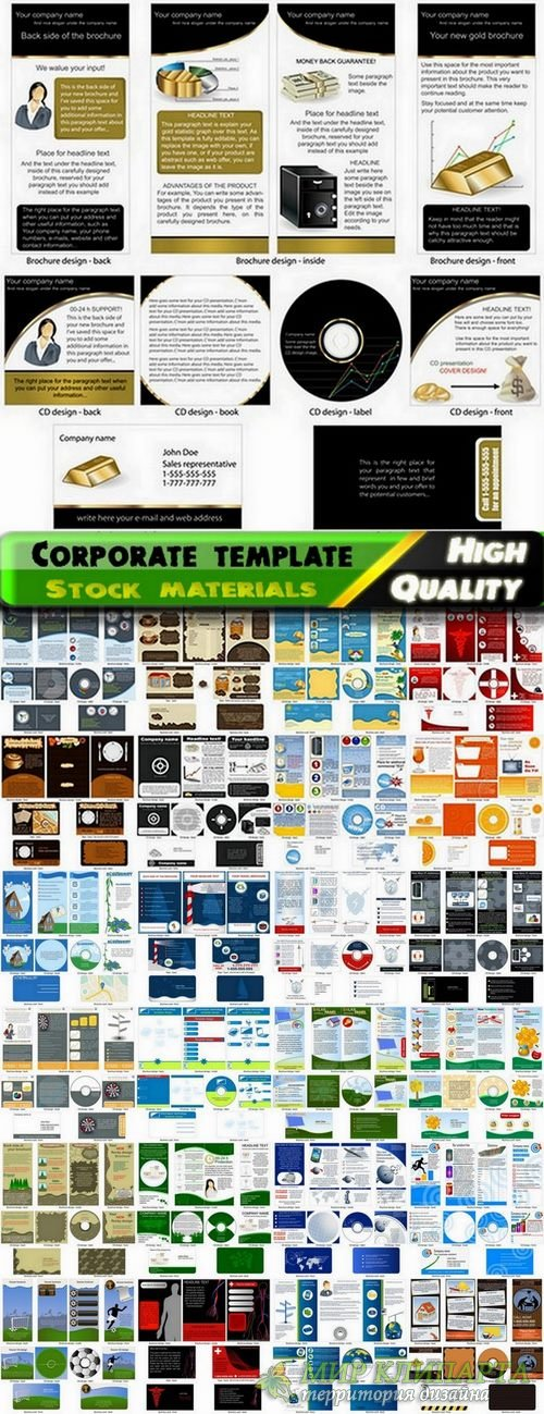 Corporate template design in vector from stock - 25 Eps