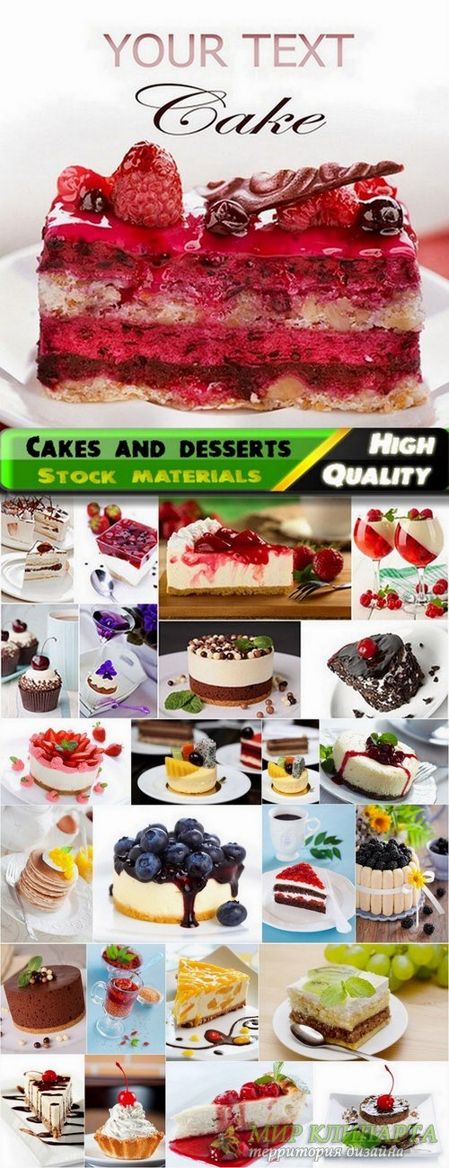 Sweet tasty cakes and desserts stock Images - 25 HQ Jpg