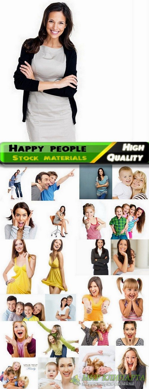 Happy people of all ages Stock images - 25 HQ jpg