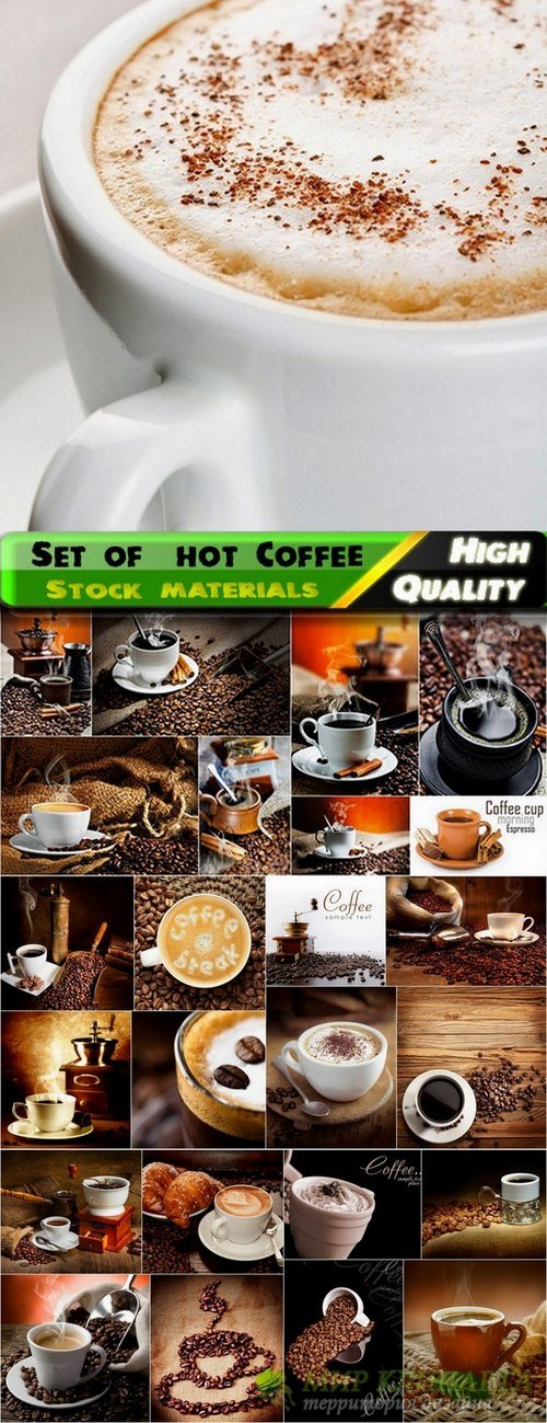 Set of  hot Coffee Stock images - 25 HQ Jpg