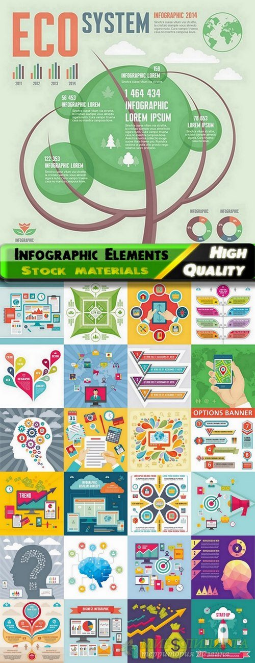 Infographic Design Elements in vector set from stock #71 - 25 Eps