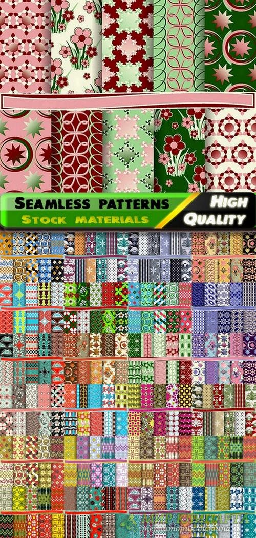 Abstract  Seamless patterns in vector set from stock #12 - 25 Eps