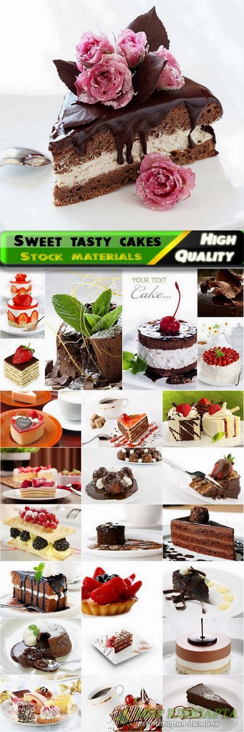 Sweet tasty cakes and desserts stock Images #2 - 25 HQ Jpg