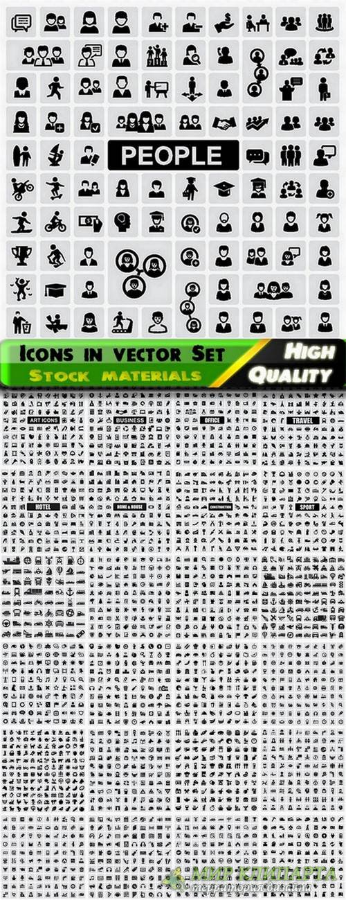 Icons in vector Set from stock #22 - 25 Eps