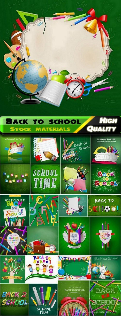 Back to school design elements in vector from stock #2 - 25 Eps