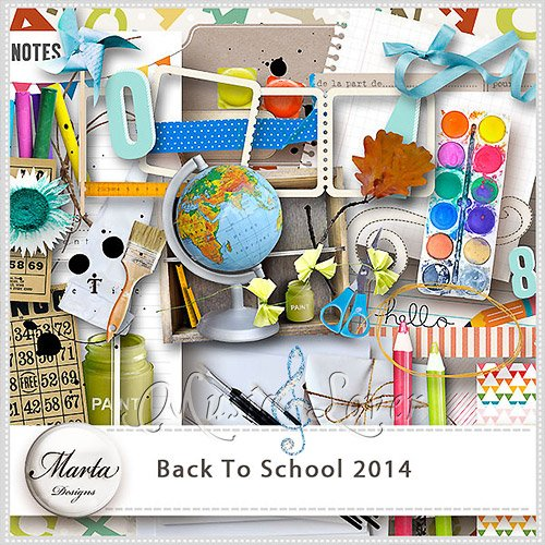 Скрап-набор - Back To School
