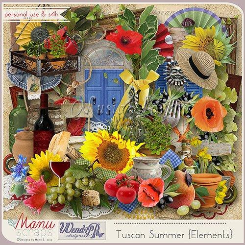Скрап-набор - Tuscan Summer