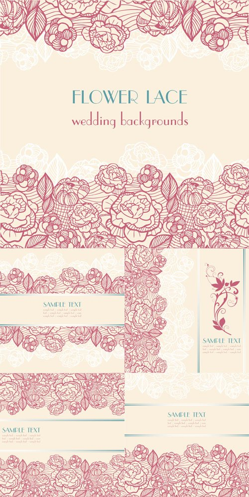 Flower Lace - Wedding backgrounds