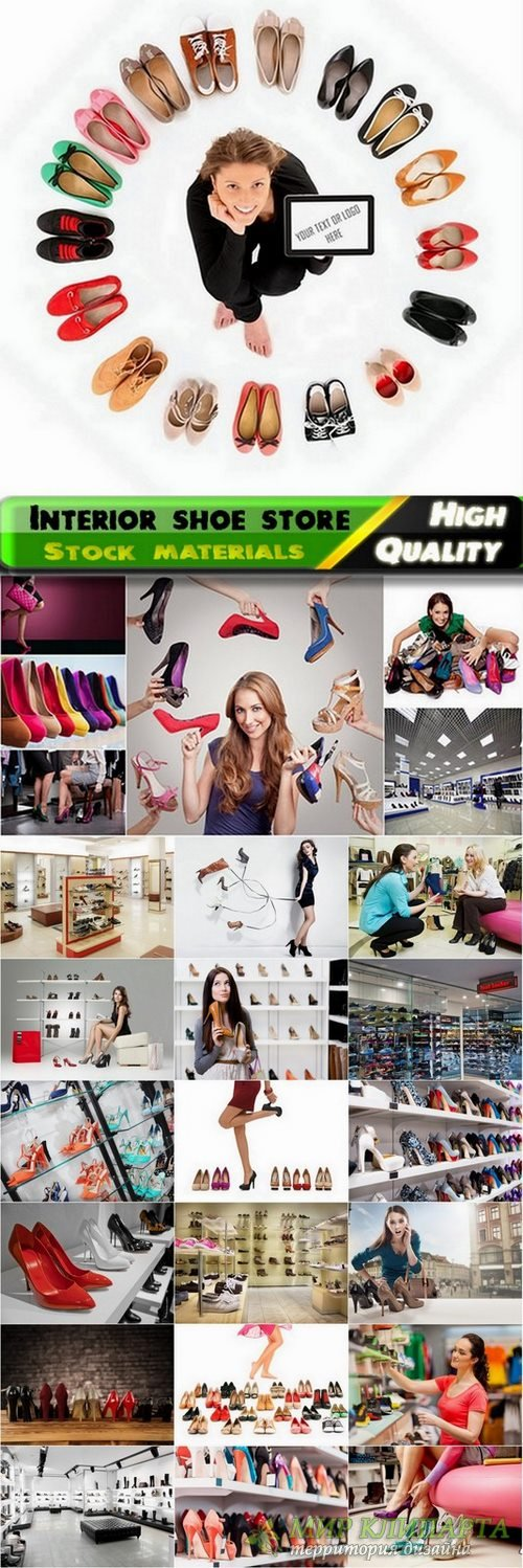 Buying shoes and interior shoe store Stock images - 25 HQ Jpg