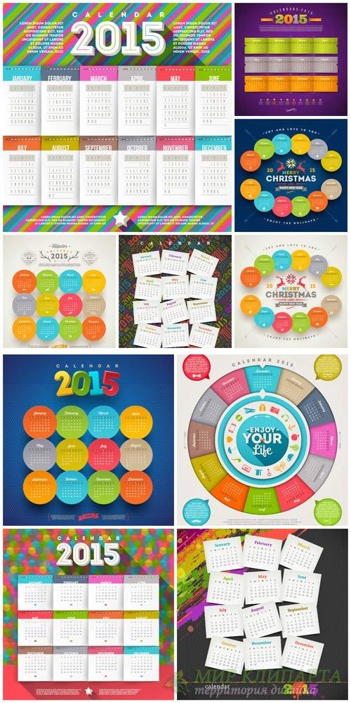 Календари на 2015 год в векторе / Calendar for 2015 vector #1
