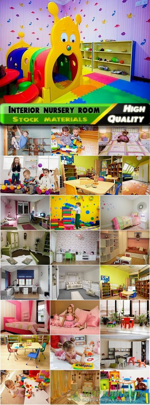 Interior nursery room Stock Images - 25 HQ Jpg