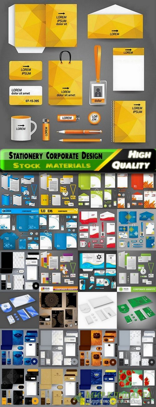 Stationery Corporate Design elements in vector from stock #2 - 25 Eps