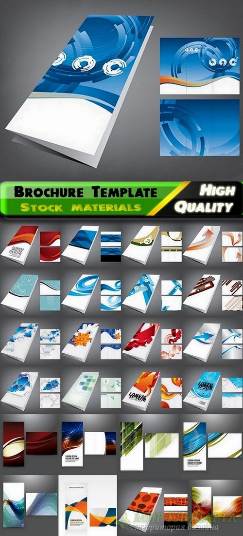 Brochure Template Design in vector #3 - 25 Eps