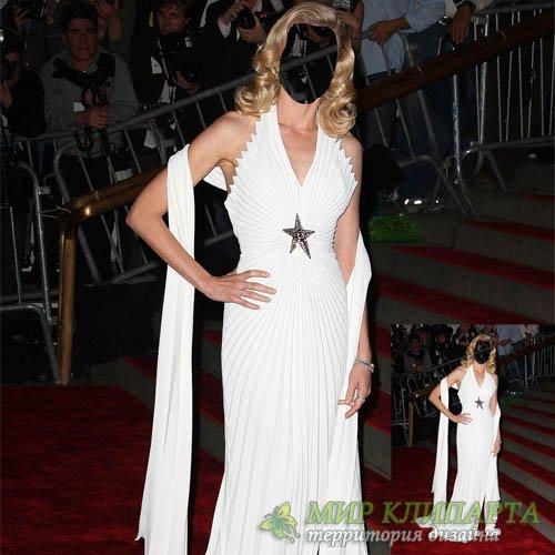 Шаблон женский - Знаменитость в шикарном платье