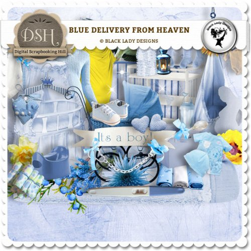Скрап-набор Blue delivery from heaven